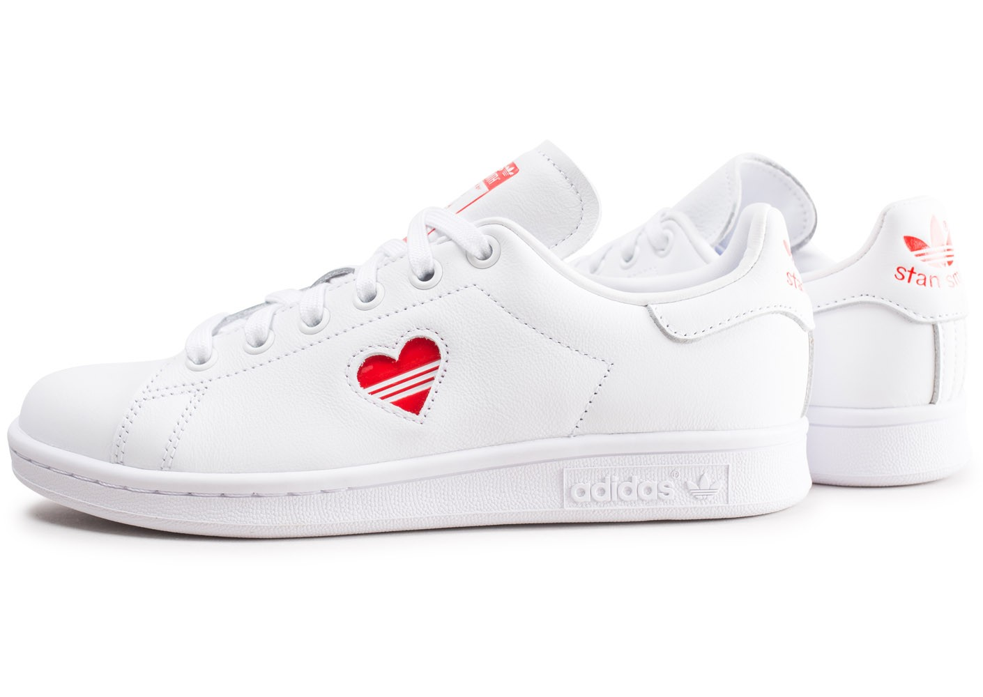 adidas Stan Smith blanche et rouge femme - Chaussures adidas ...