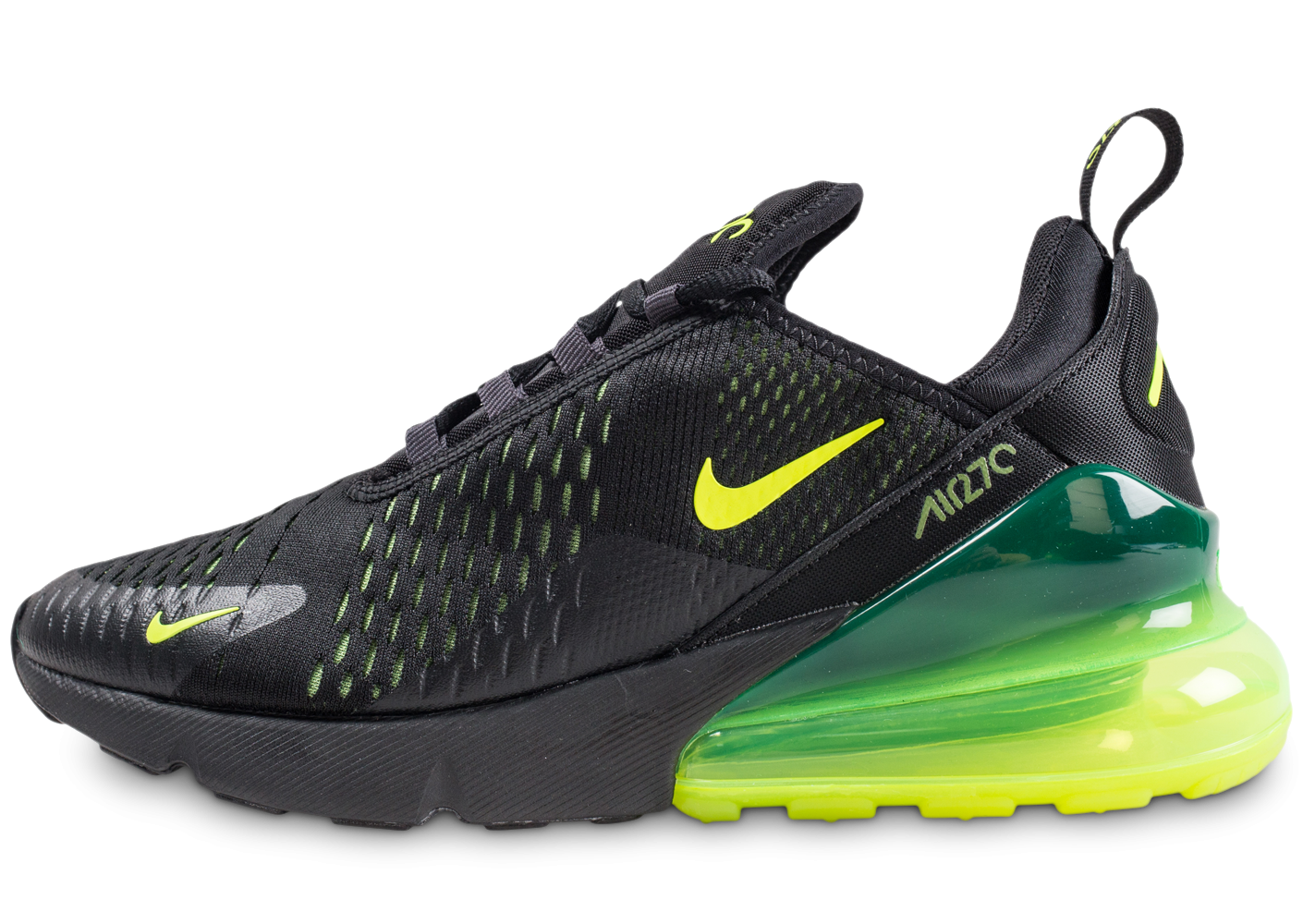 reputable site 6ae77 844c1 Nike Air Max 270 noire volt - Chaussures Baskets homme - Chausport