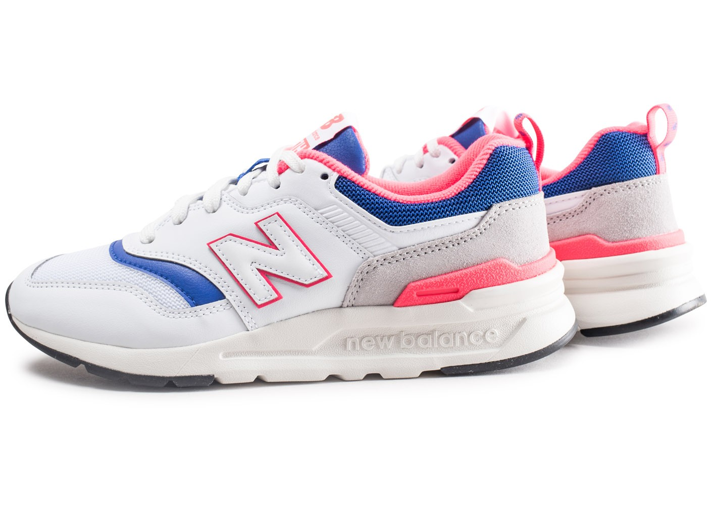 new balance blanc bleu rose