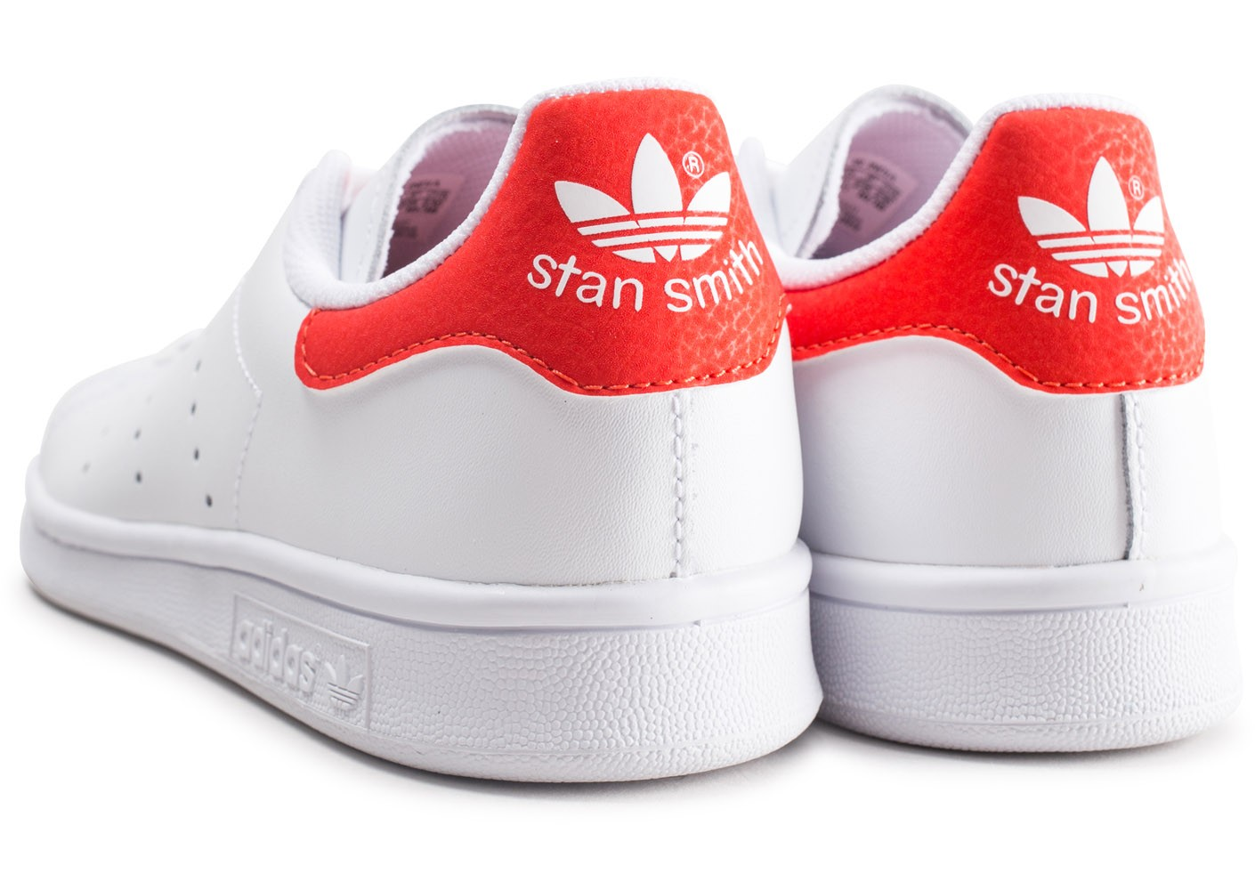 adidas Stan Smith blanche et rouge junior - Chaussures ...