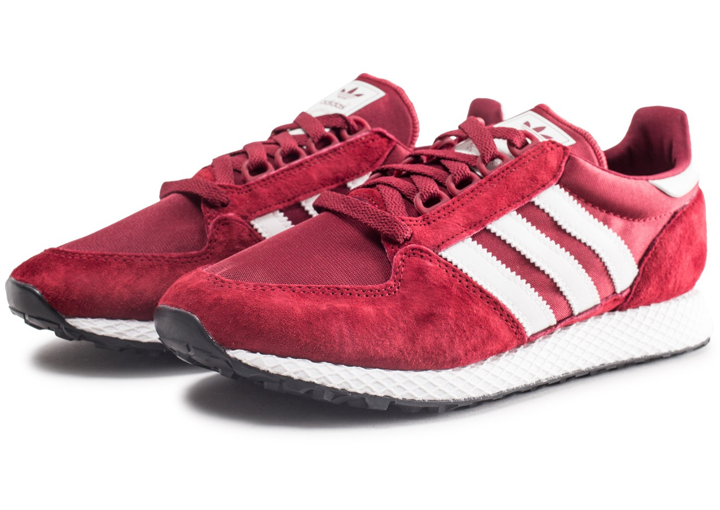 ff21a4ef0c adidas Forest Grove bordeaux - Chaussures Baskets homme - Chausport