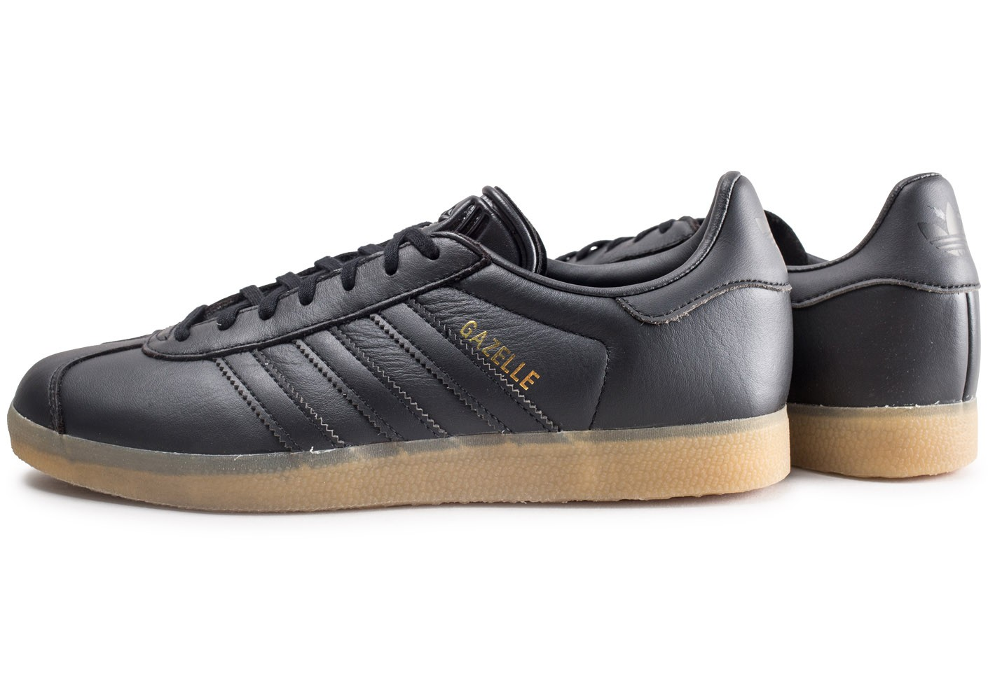 outlet for sale performance sportswear official shop Chaussures Noire Homme Baskets Chausport Gazelle Adidas Gum ...