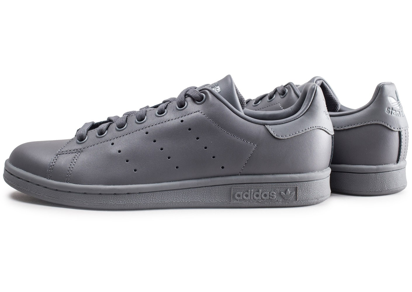 adidas Stan Smith grise Chaussures Baskets homme Chausport