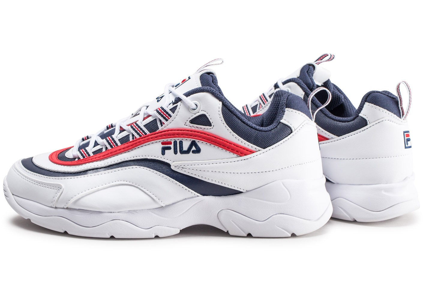 Homme Baskets Ray Bleue Et Fila Chausport Chaussures Rouge Blanche rRBqrAw