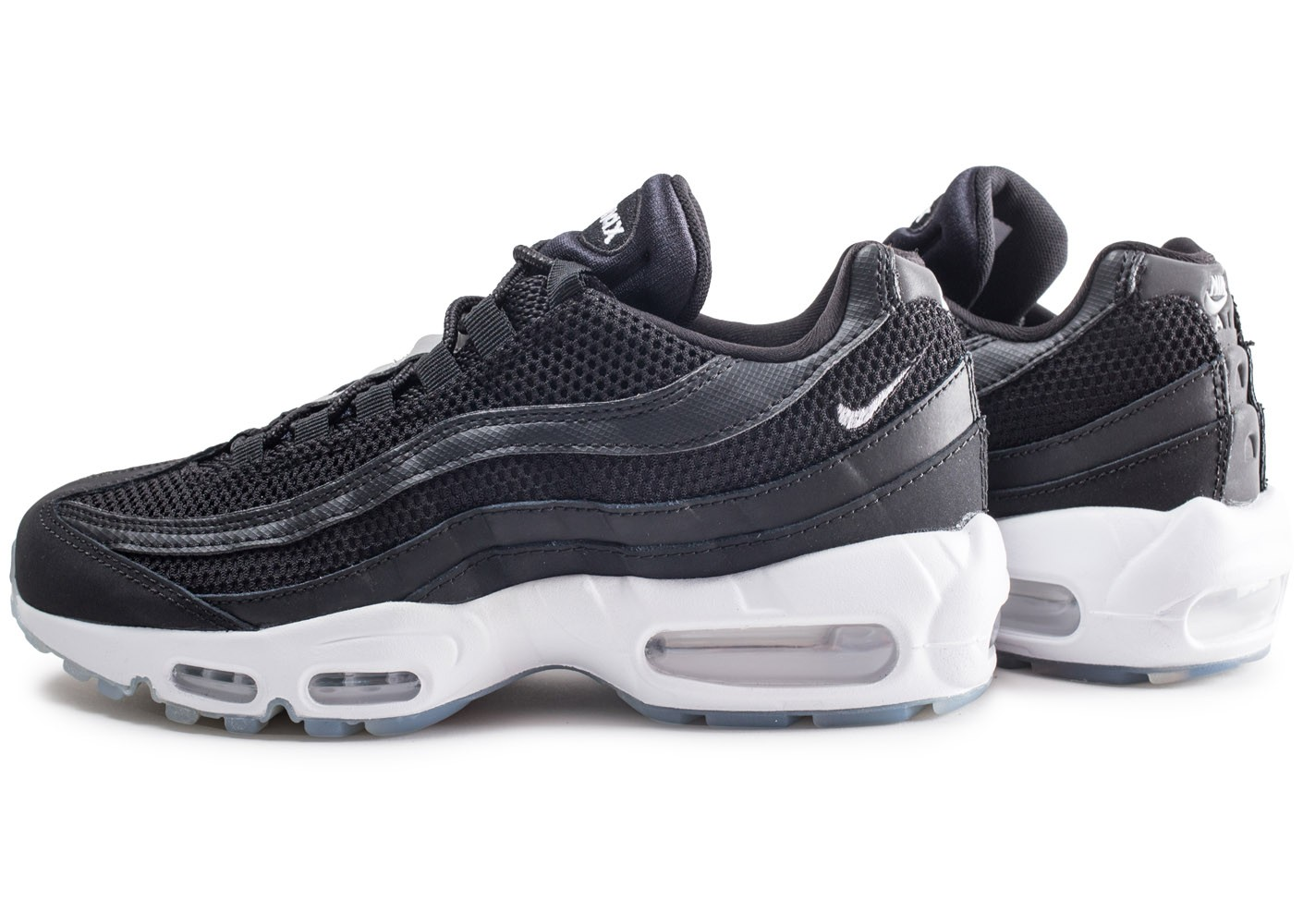 cheap sale picked up reputable site Nike Air Max 95 Essential noire et argent - Chaussures ...
