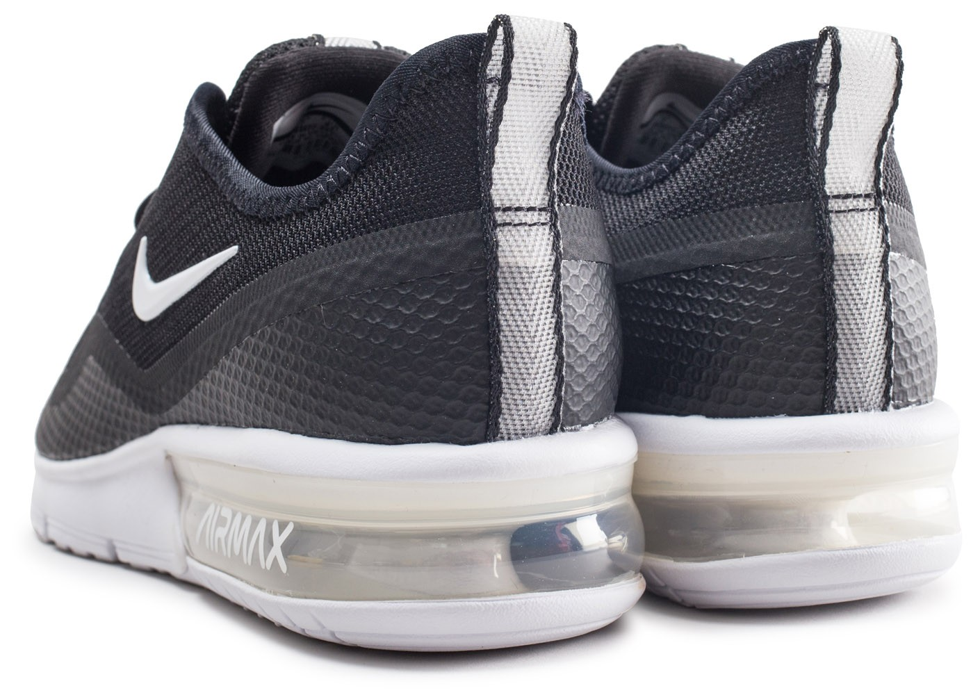 good looking discount united kingdom Nike Air Max Sequent 4.5 noire et blanche - Chaussures Baskets ...
