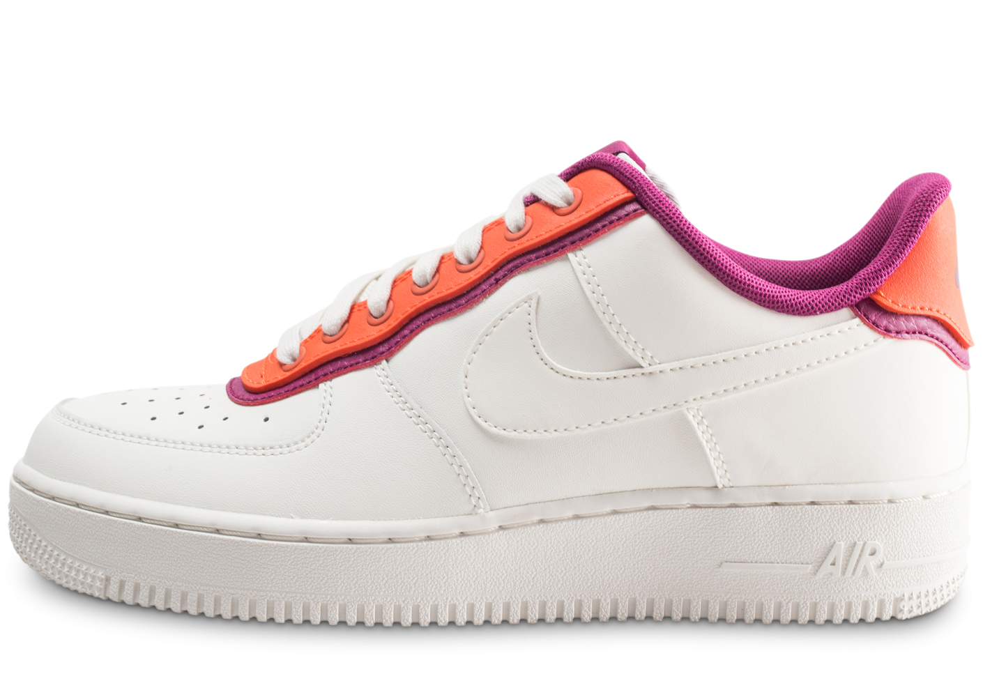 Nike Air Force 1 07 LV8 blanc orange violet