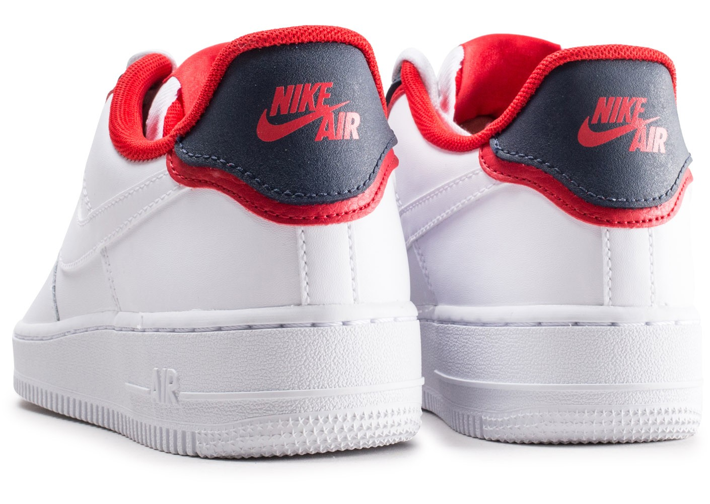 Nike Air Force 1'07 LV8 blanche bleue et rouge Chaussures