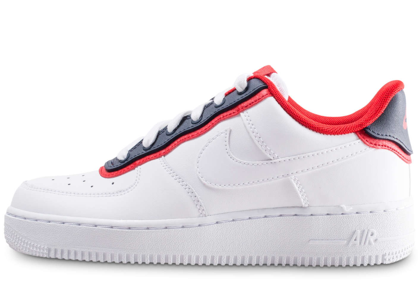 air force 1 blanche rouge