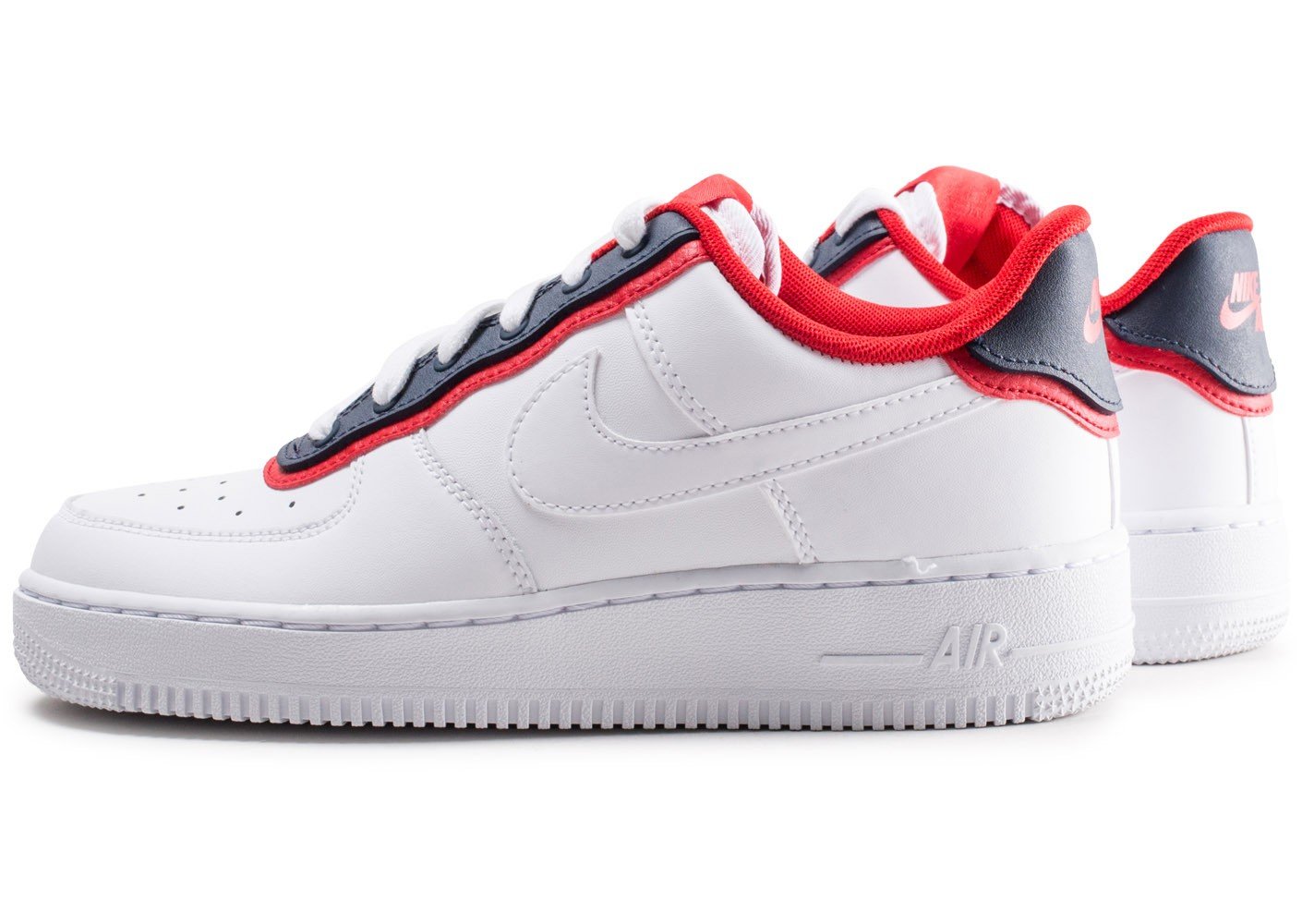 air force one rouge et blanc homme