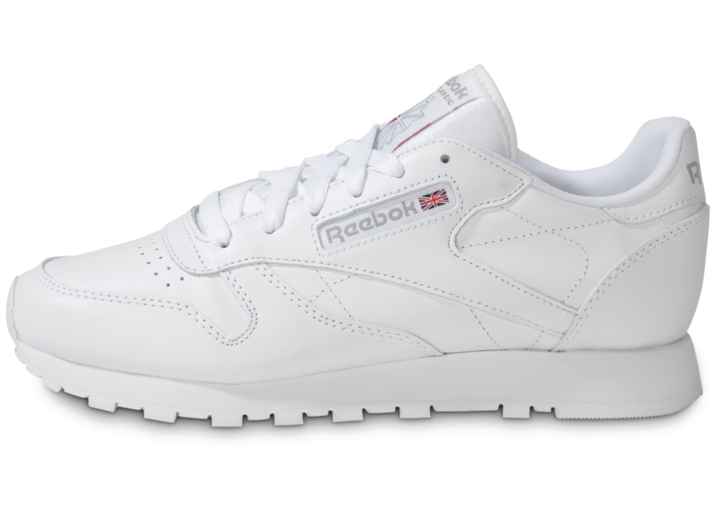 a0e928c5523e6 Reebok Classic Leather Blanche - Chaussures Chaussures - Chausport