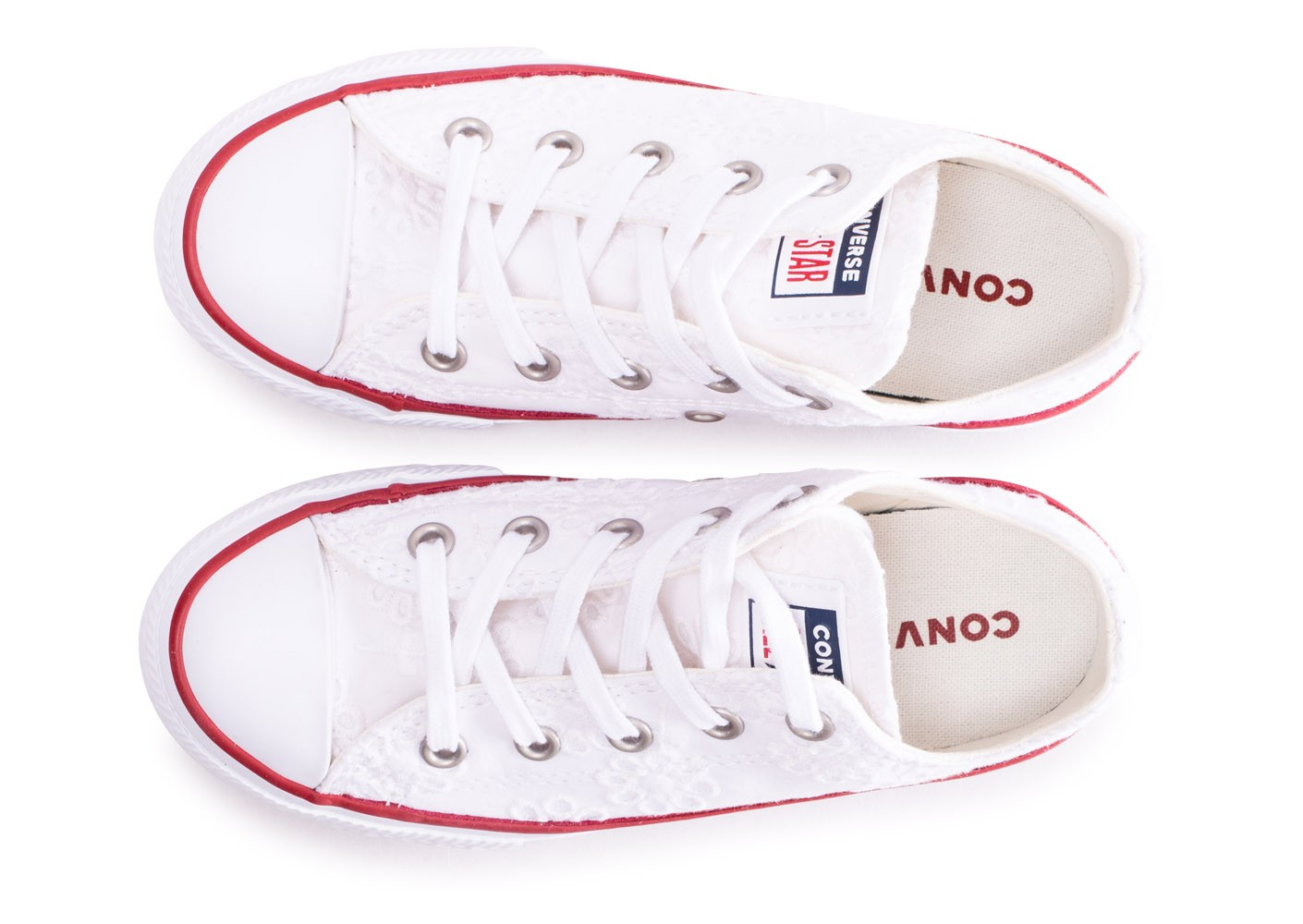 9d0fb2737 Converse Chuck Taylor All Star enfant basse blanche broderie ...