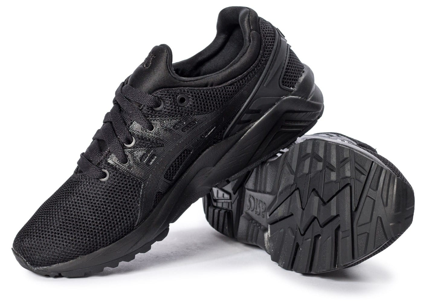 ... Chaussures Asics Gel Kayano Trainer Evo W triple black vue intérieure  ... 54ad77624026