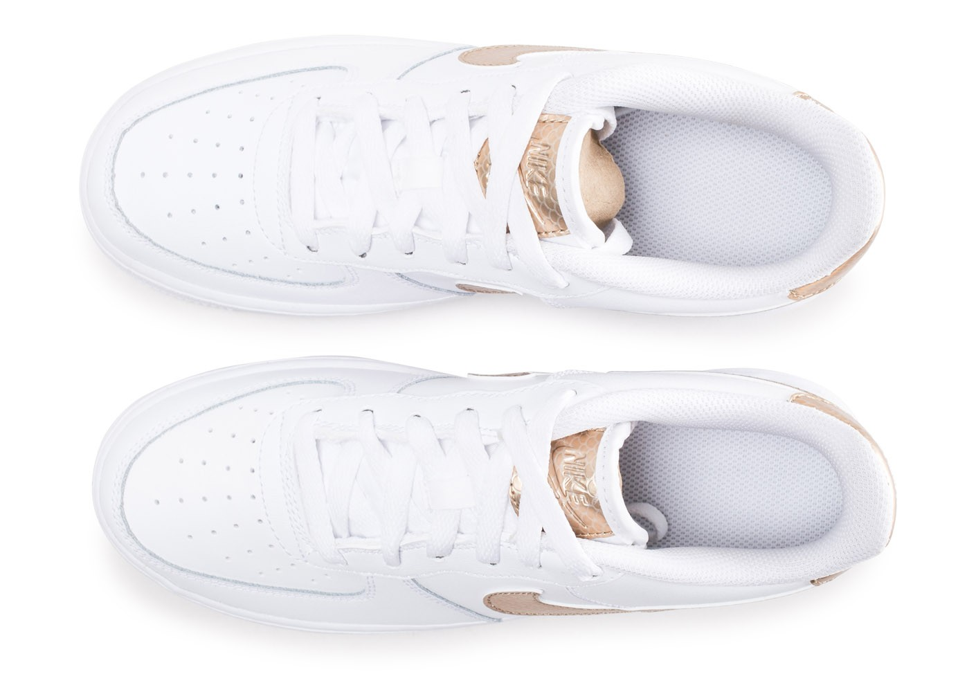 Nike Air Force 1 EP blanche et bronze junior Chaussures