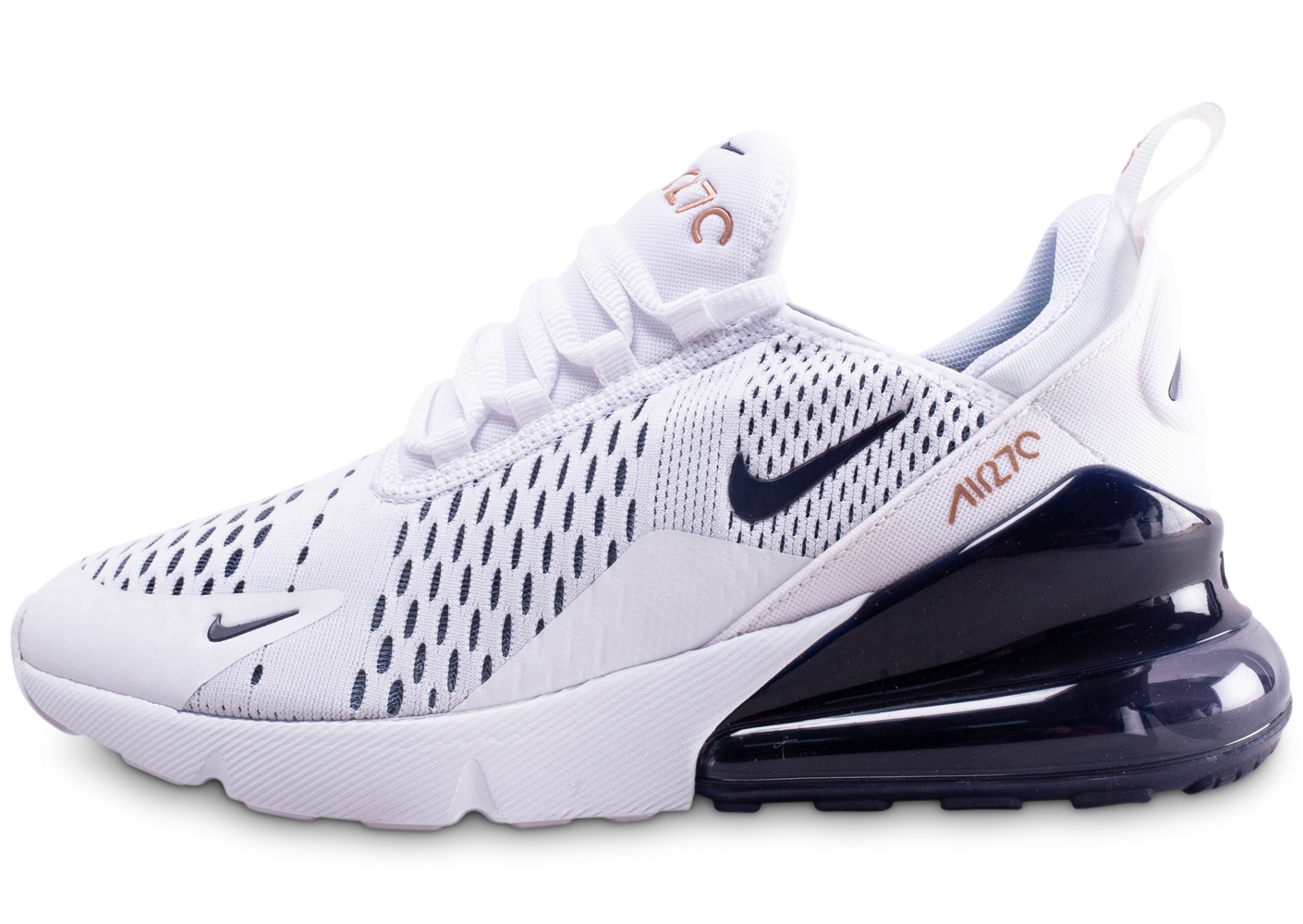 Nike Air Max 270 blanc bleu marine junior