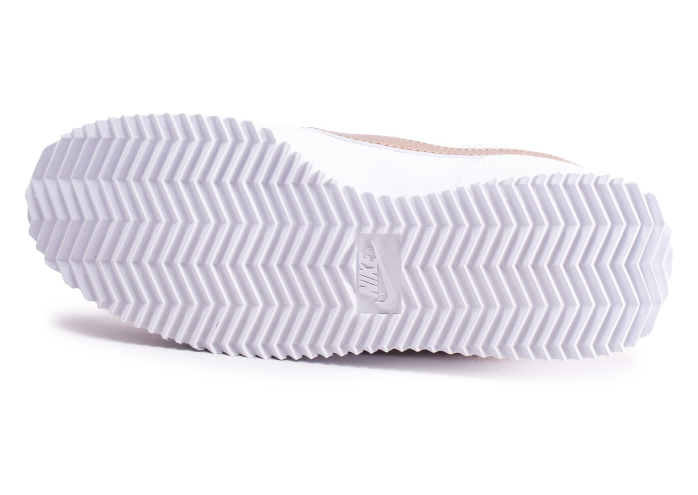 nike cortez femme blanche or