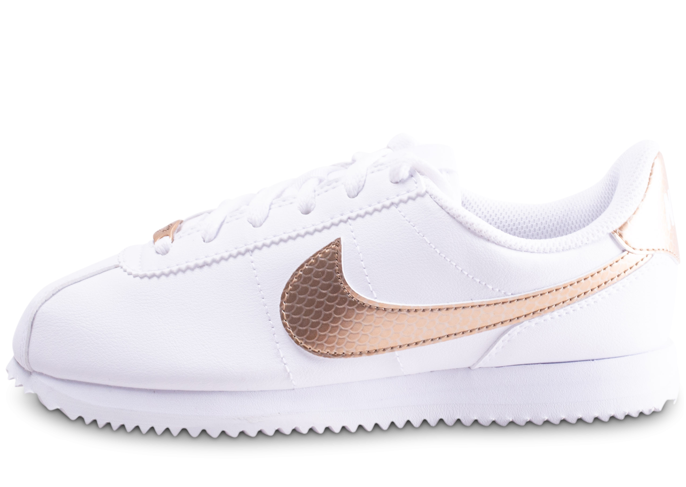 Nike Cortez Basic blanche et or