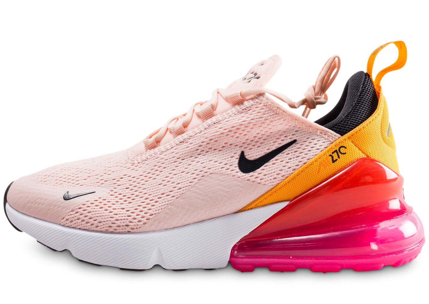meilleur site web 8e980 131b3 Nike Air Max 270 rose et orange femme