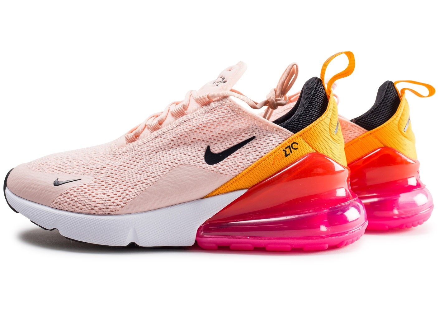 Nike Air Max 270 rose et orange femme - Chaussures Baskets ...