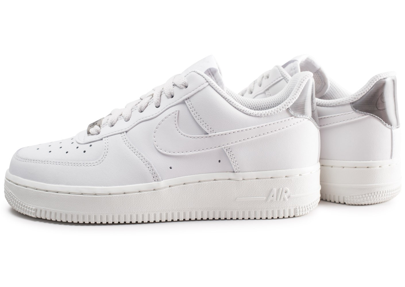 Nike Et Air Force Femme 1 '07 Blanche Chaussures Essential Grise DWH29EI