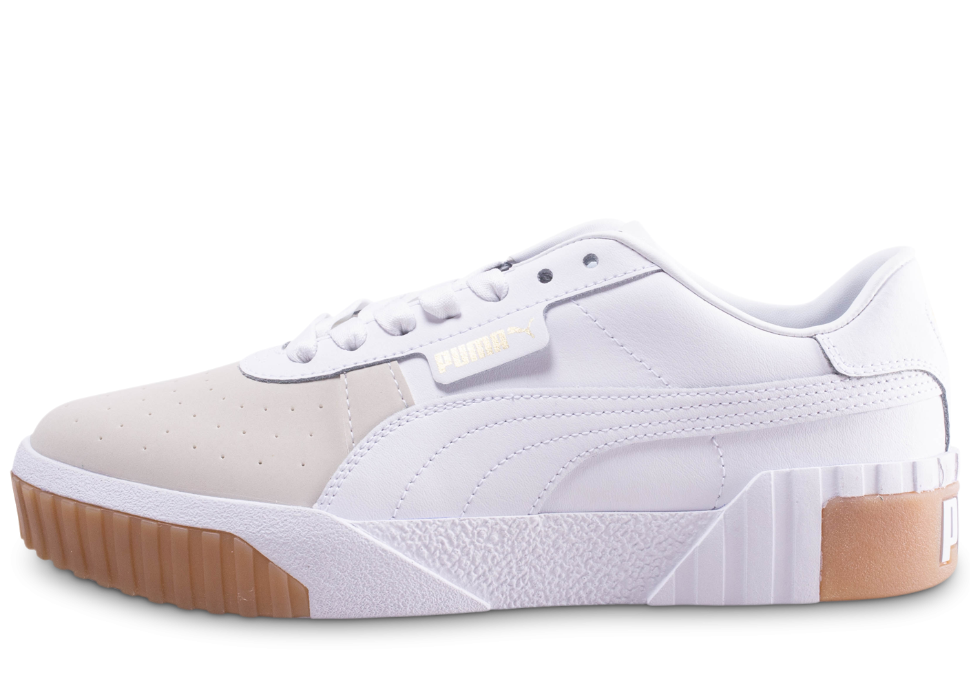 check out buying new wholesale online Puma Cali Exotic blanc et beige femme