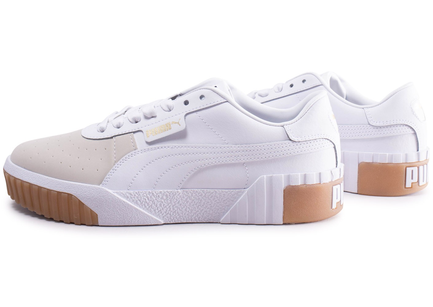 reputable site free shipping new lower prices Puma Cali Exotic blanc et beige femme - Chaussures Baskets ...