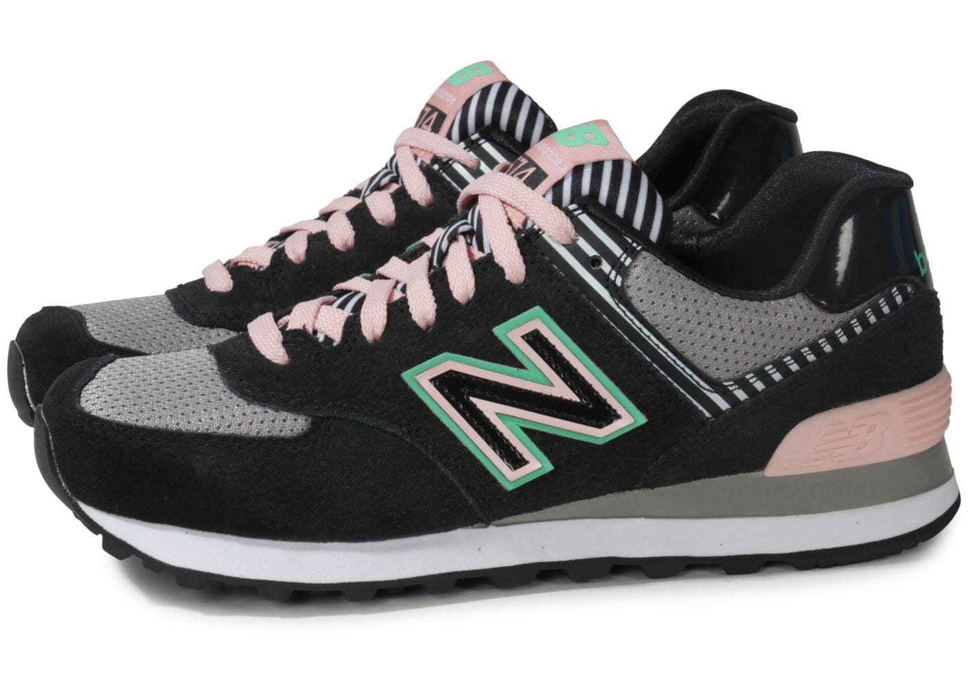 new balance 574 noir rose