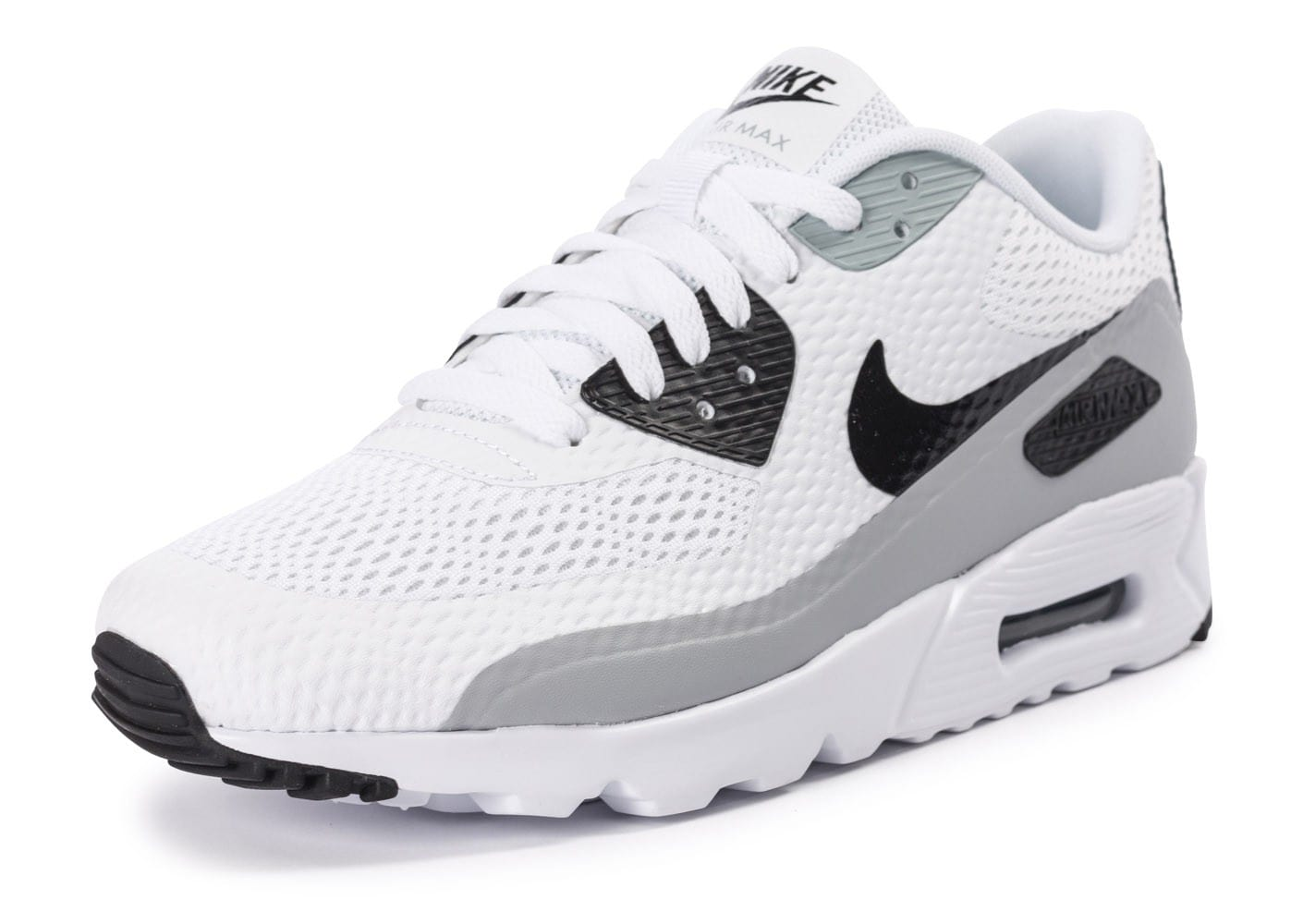best sneakers cb2e0 76b45 ... italy chaussures nike air max 90 ultra essential blanche et grise vue  avant 81a37 114e2