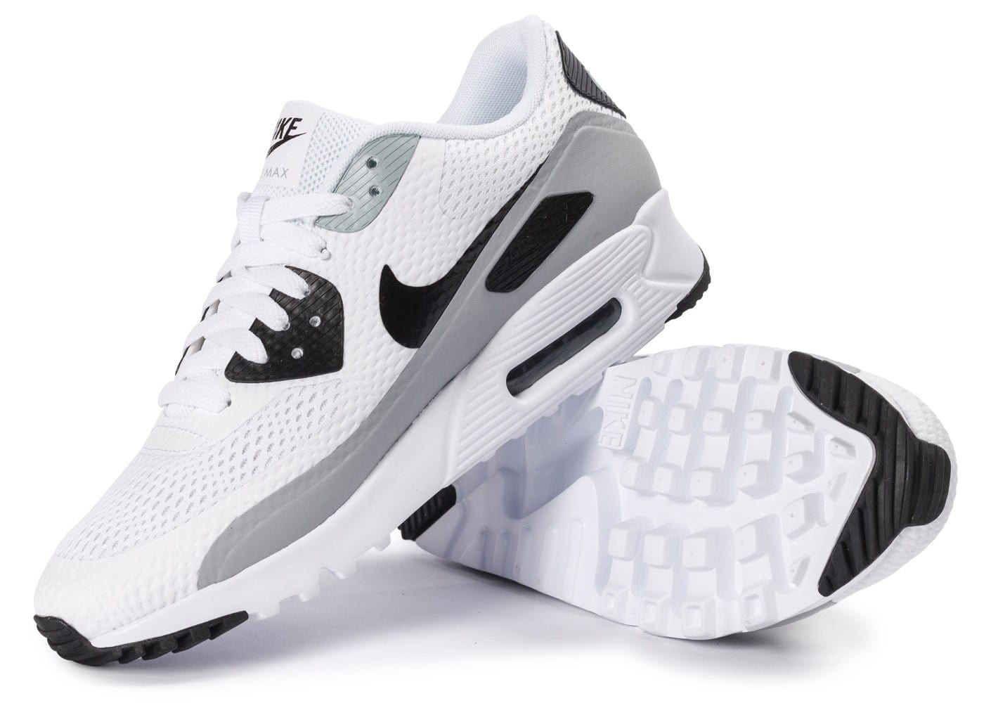 cheap for discount dbbf1 93849 ... Chaussures Nike Air Max 90 Ultra Essential blanche et grise vue  intérieure ...