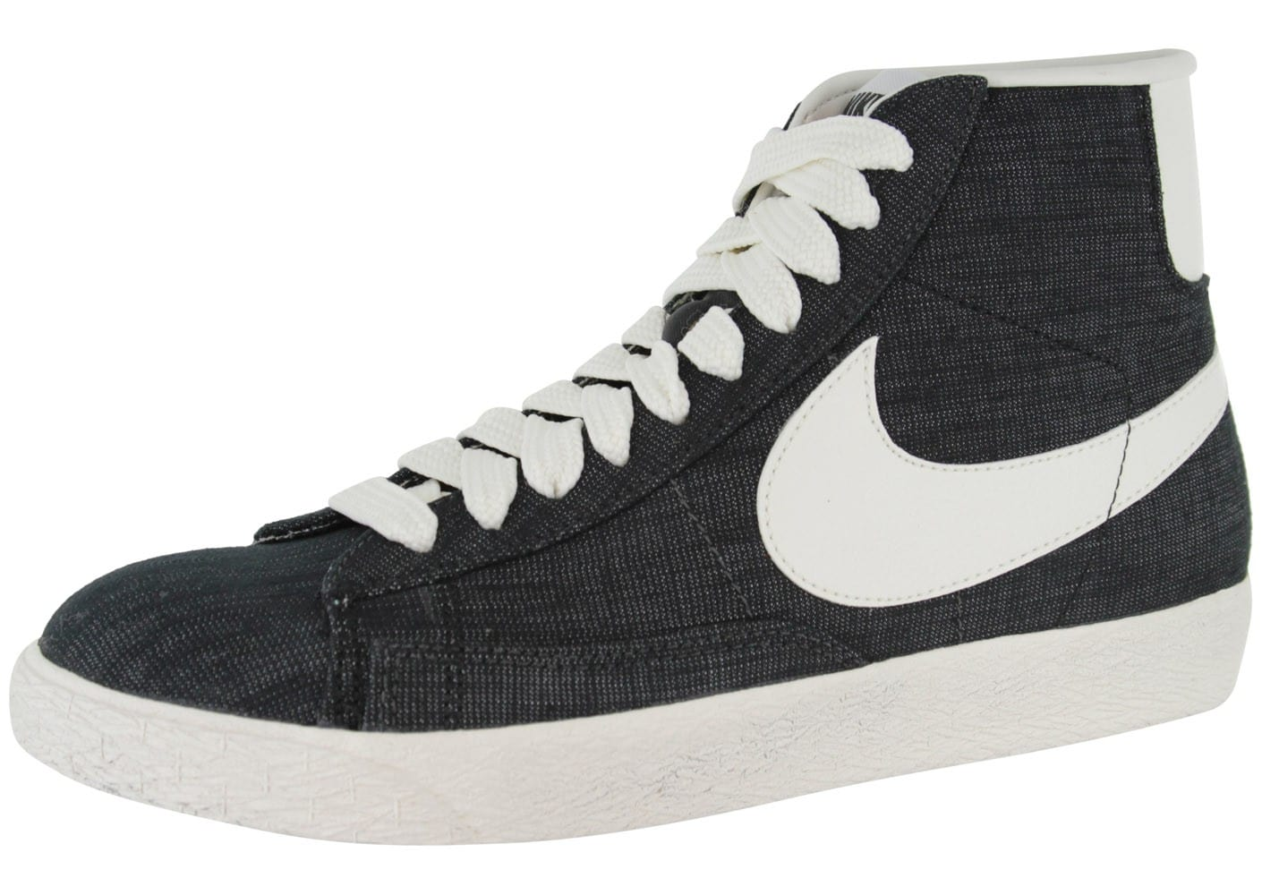 Mid Homme Noire Blazer Baskets Chaussures Chausport Nike Toile 7Hq5nxHY