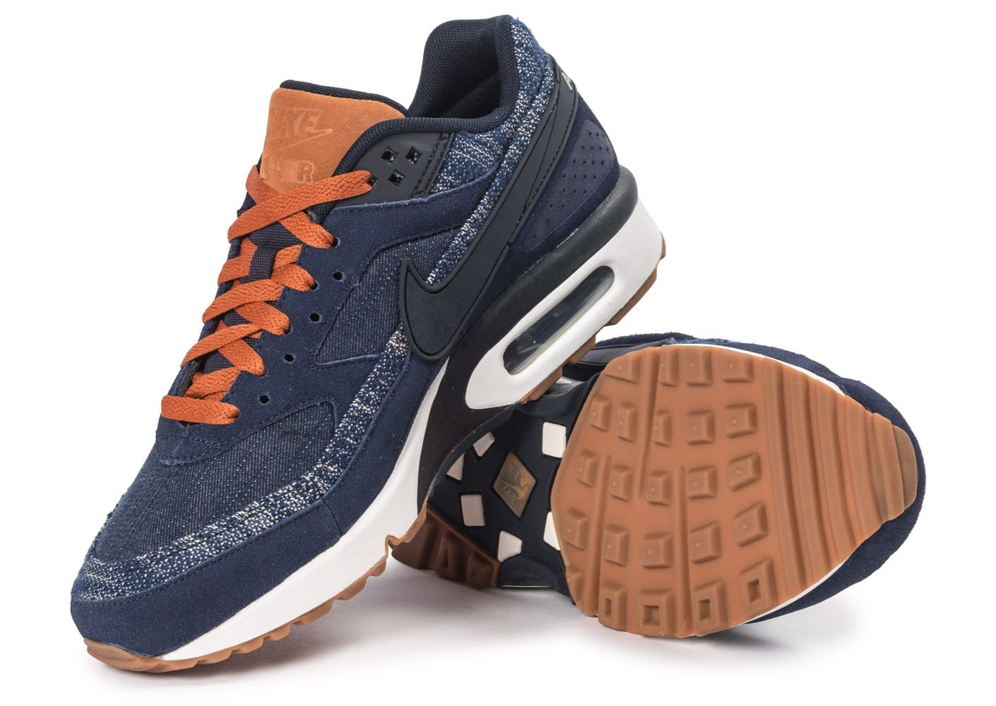 differently 586ff 9bebc ... promo code for chaussures nike air max bw premium denim vue intérieure  35b48 fc172