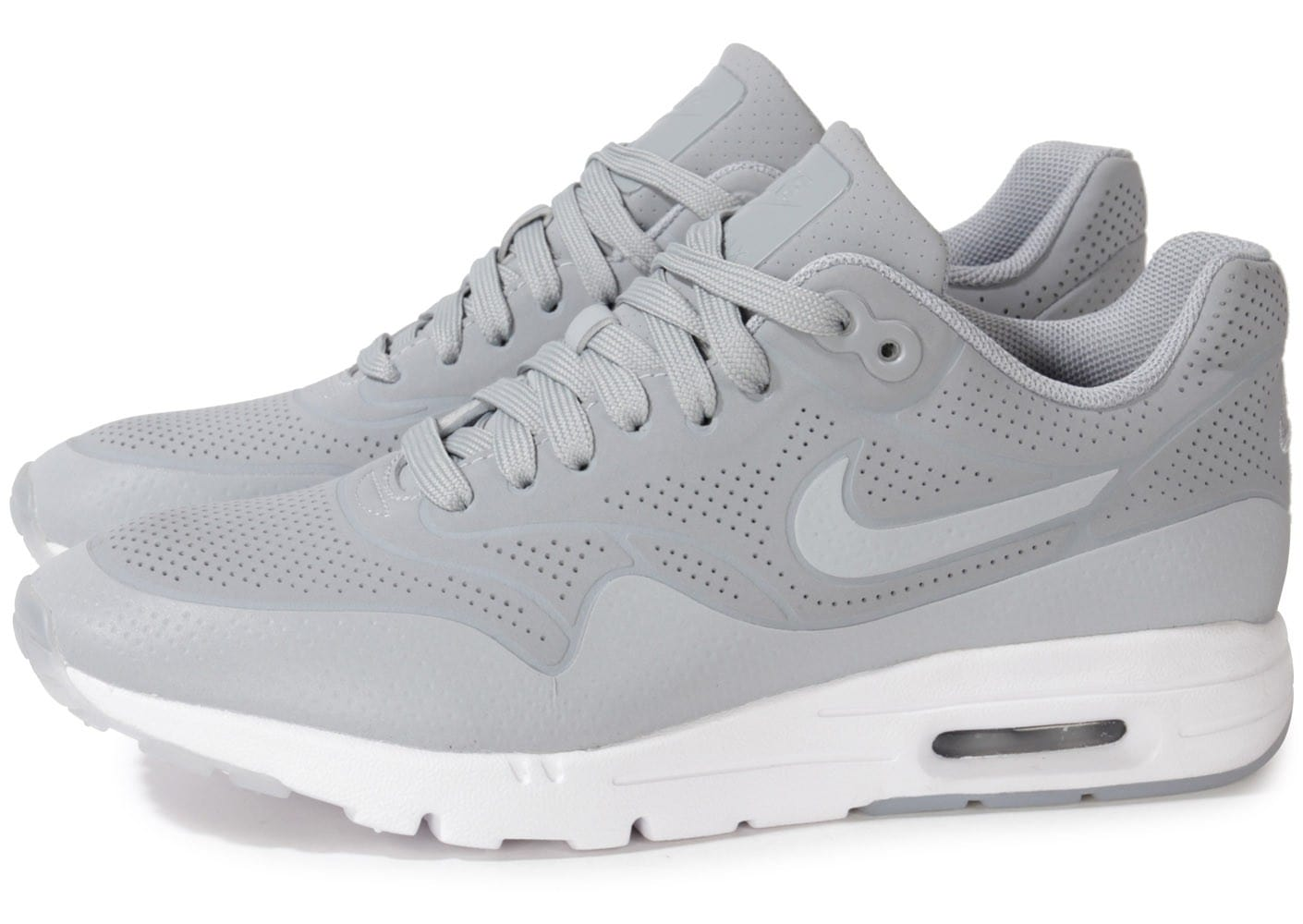 newest 17641 0aa9f Cliquez pour zoomer Chaussures Nike Air Max 1 Ultra Moire Wolf Grey vue  extérieure ...
