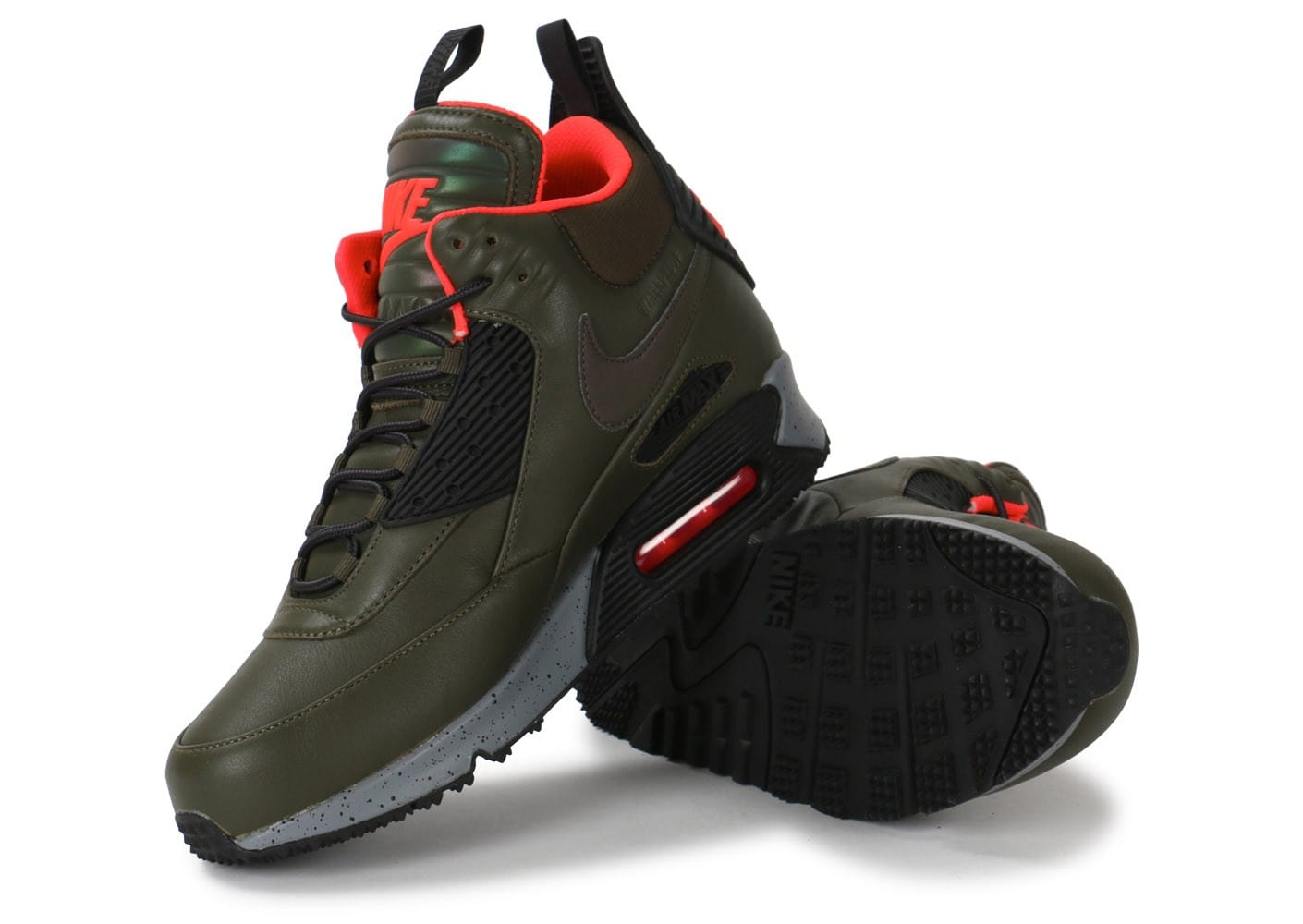 new arrivals 348d4 a39c5 ... Chaussures Nike Air Max 90 Sneakerboot Winter kaki vue intérieure ...
