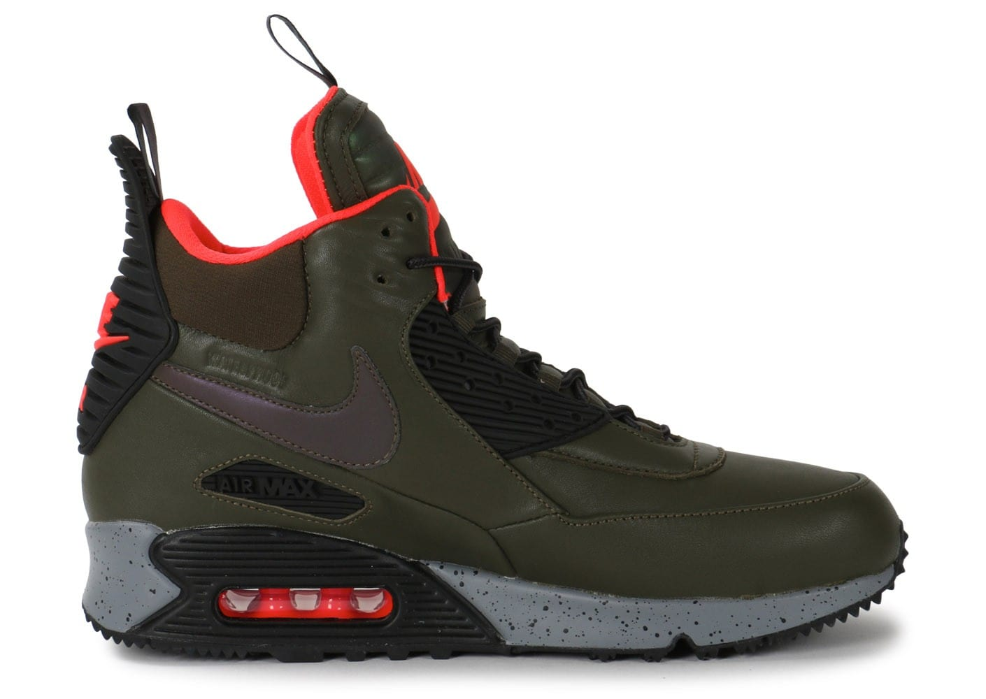 finest selection 4f4c5 cb73f ... Chaussures Nike Air Max 90 Sneakerboot Winter kaki vue dessous ...