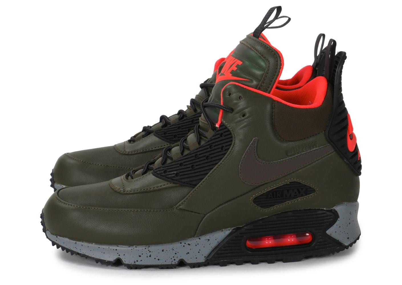 online store 274ae 3a9f7 Cliquez pour zoomer Chaussures Nike Air Max 90 Sneakerboot Winter kaki vue  extérieure ...