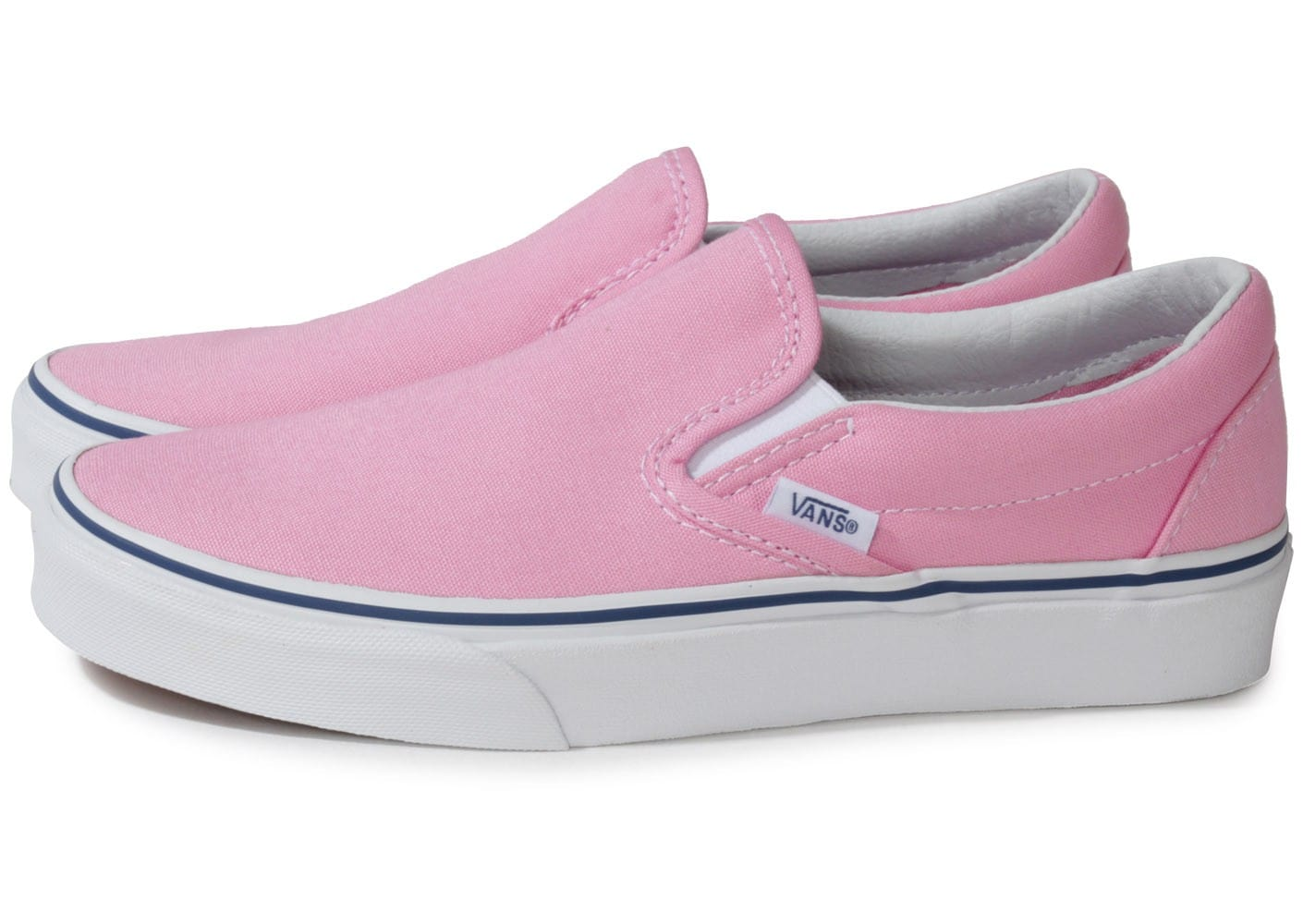 Vans Classic Slip-on Rose - Chaussures Chaussures - Chausport