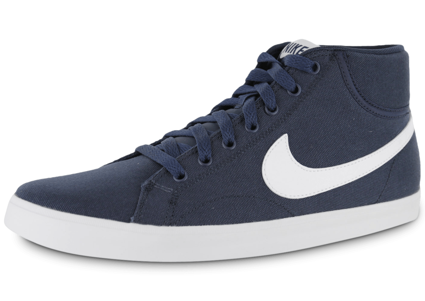 buy online a919a 854b8 Nike Eastham Toile Mid Bleu Marine - Chaussures Baskets homme - Chausport