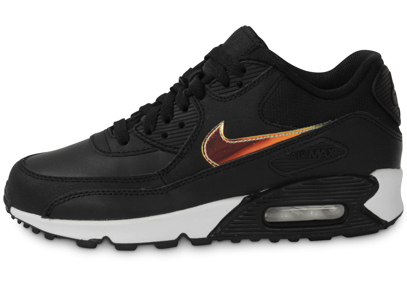 new arrival 9f407 e47ea Nike Air Max 90 Noir Iridescent Junior - Chaussures Chaussures - Chausport