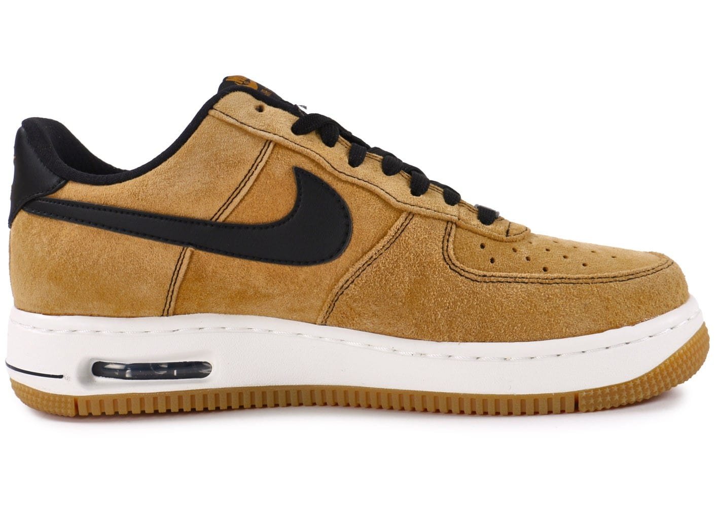 best loved 630b5 102c4 ... Chaussures Nike Air Force 1 Elite Low wheat vue dessous ...