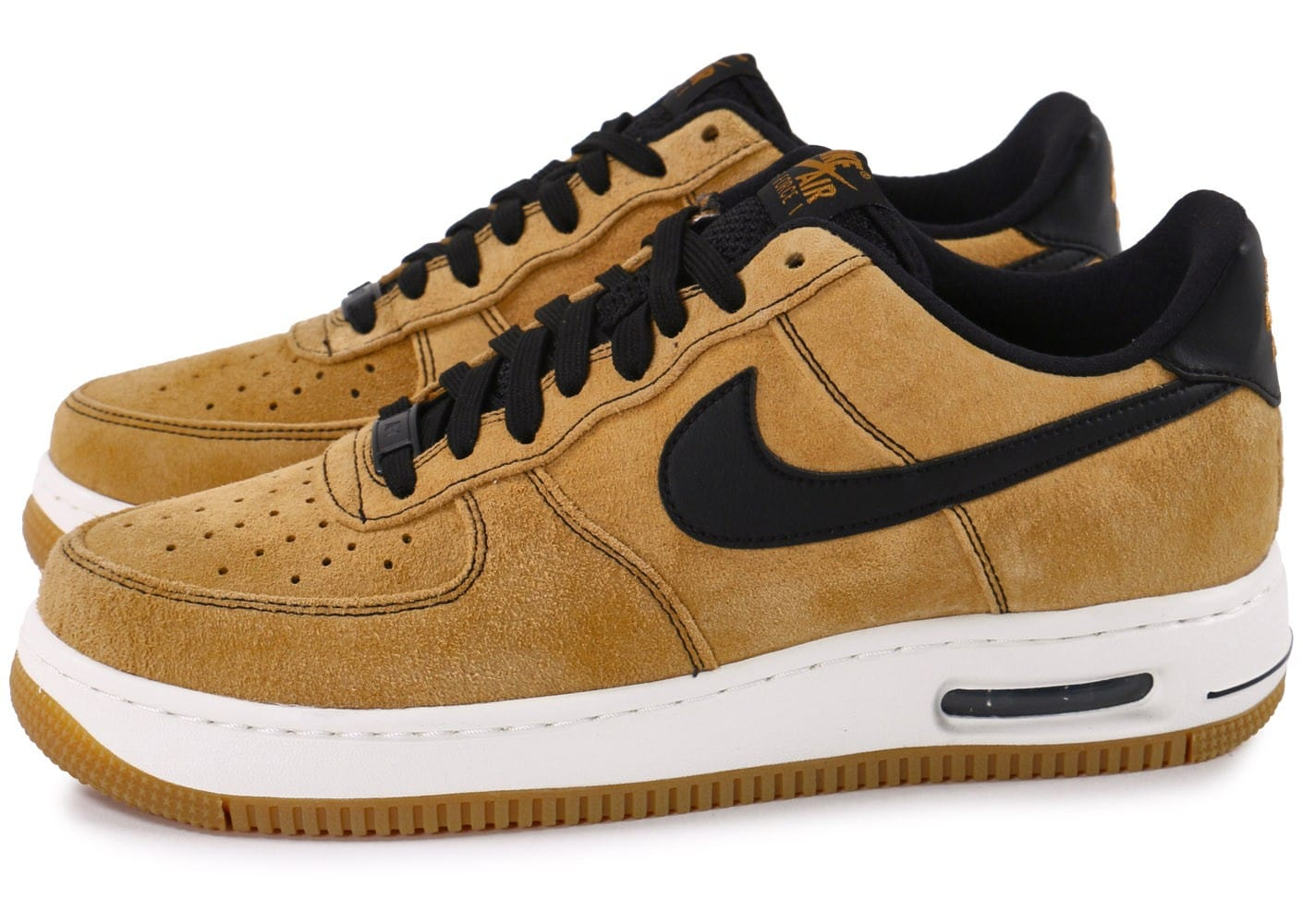 Nike Air Force Baskets 1 Elite Low Wheat Chaussures Baskets Force Homme Chausport 19fad9