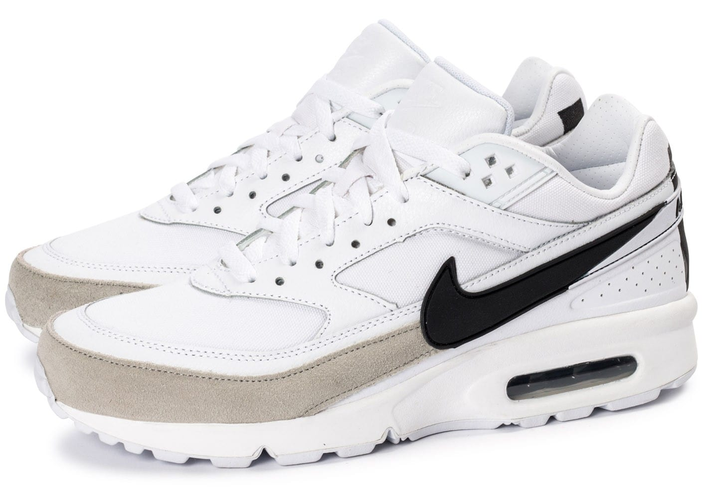 nike air max bw premium blanc noir chaussures baskets homme chausport. Black Bedroom Furniture Sets. Home Design Ideas