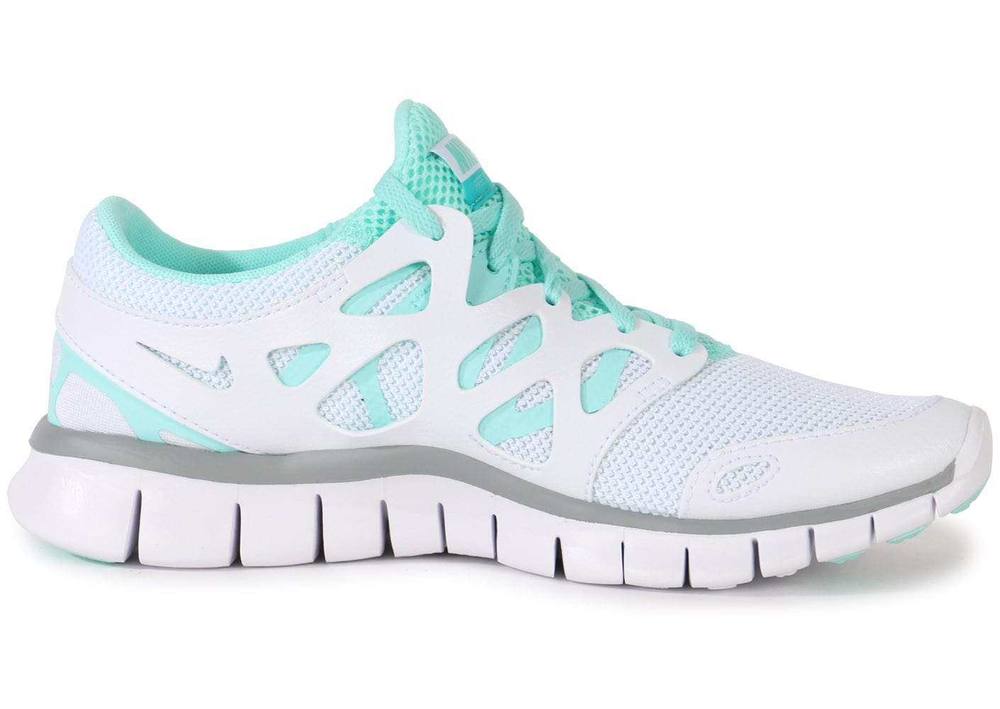 ... Chaussures Nike Free Run 2 Ext Blanche vue dessous ...