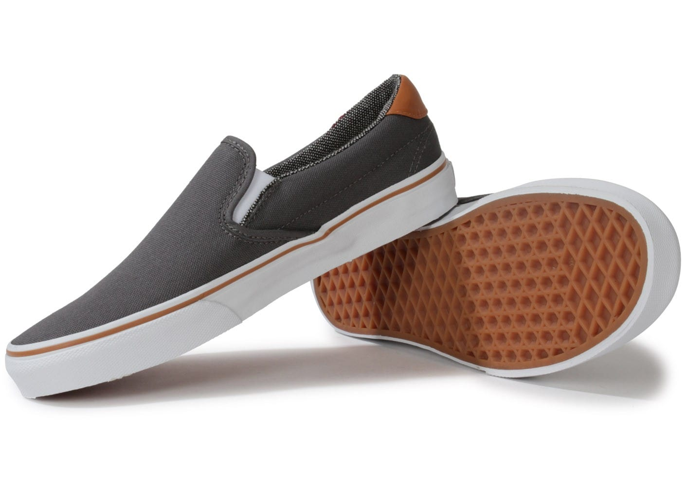 vans slip on 59 grise chaussures baskets homme chausport. Black Bedroom Furniture Sets. Home Design Ideas