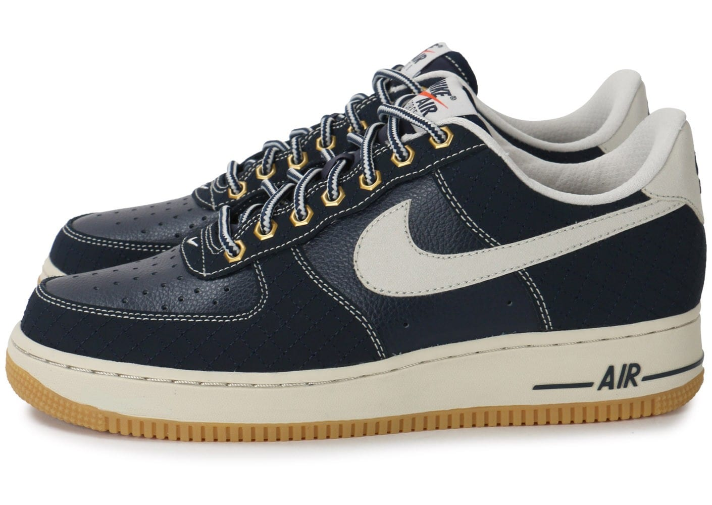 nouveaux styles 81f8c 5b220 Nike Air Force 1 Low bleu marine - Chaussures Baskets homme ...