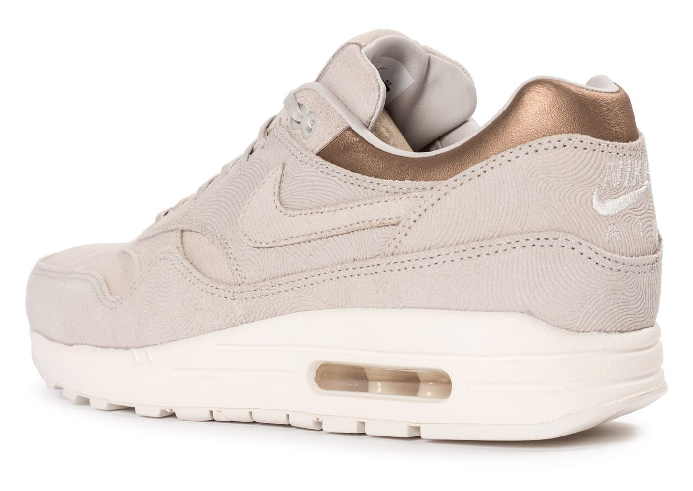 Nike Baskets basses Air Max 1 Premium Beige qUQHf
