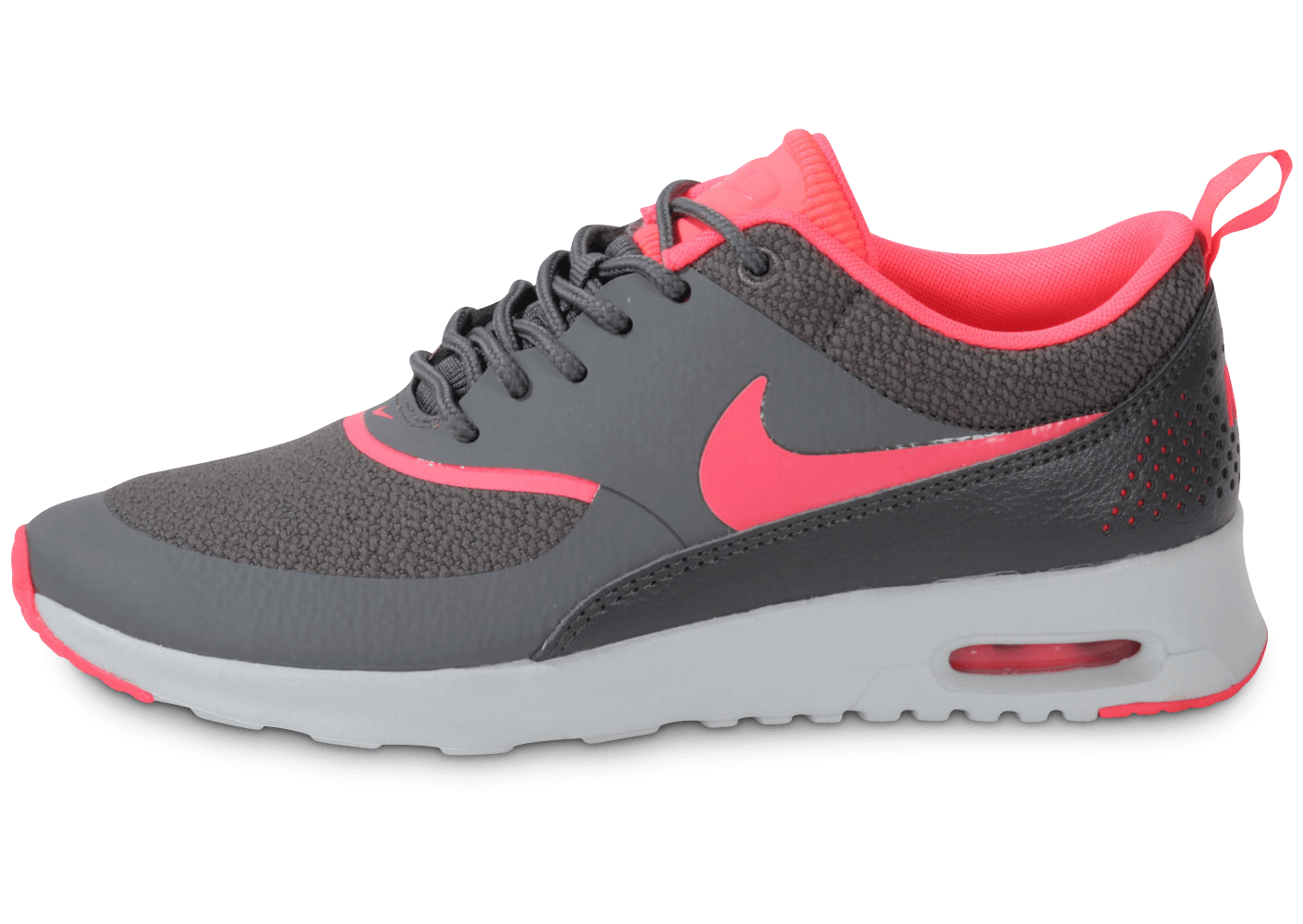 buy popular 3d6b2 4186e Nike Air Max Thea Grise Rose - Chaussures Baskets femme - Chausport