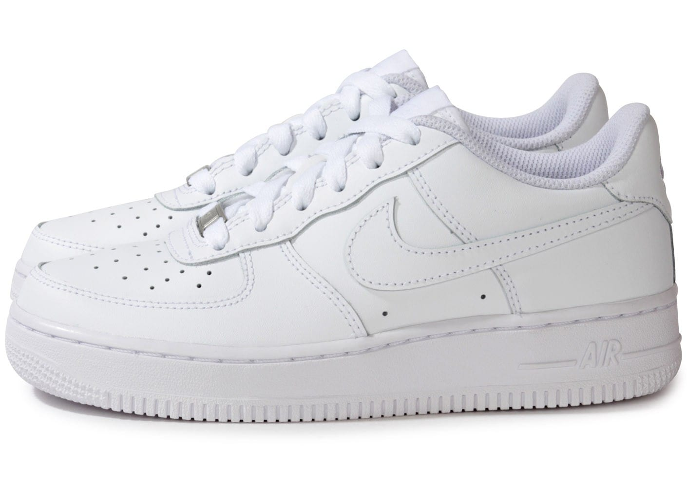 nike air force 1 junior blanche chaussures baskets femme chausport. Black Bedroom Furniture Sets. Home Design Ideas