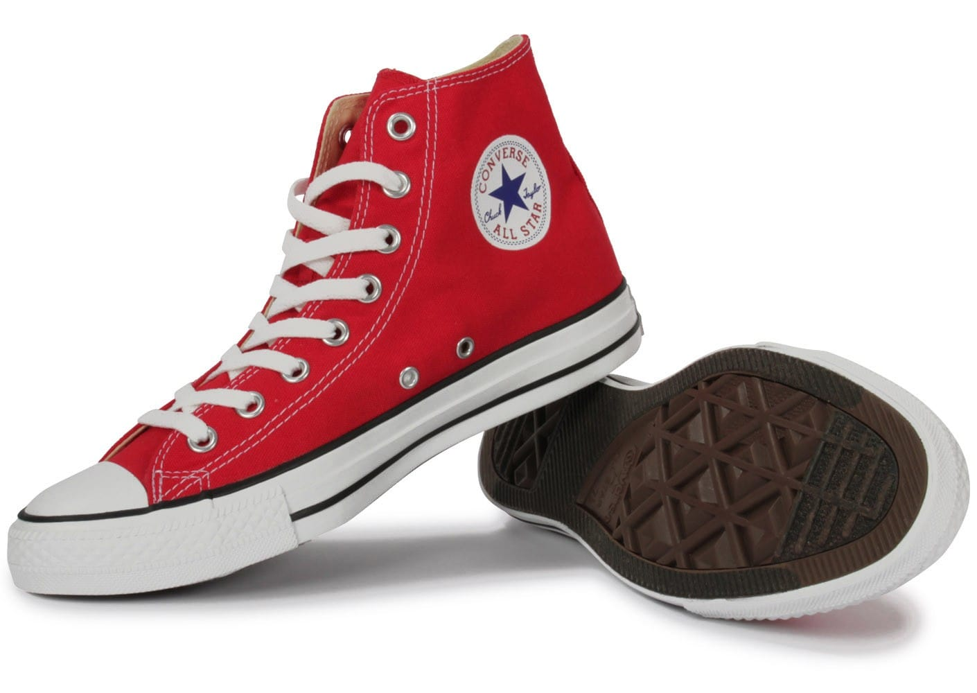 converse all star montante rouge