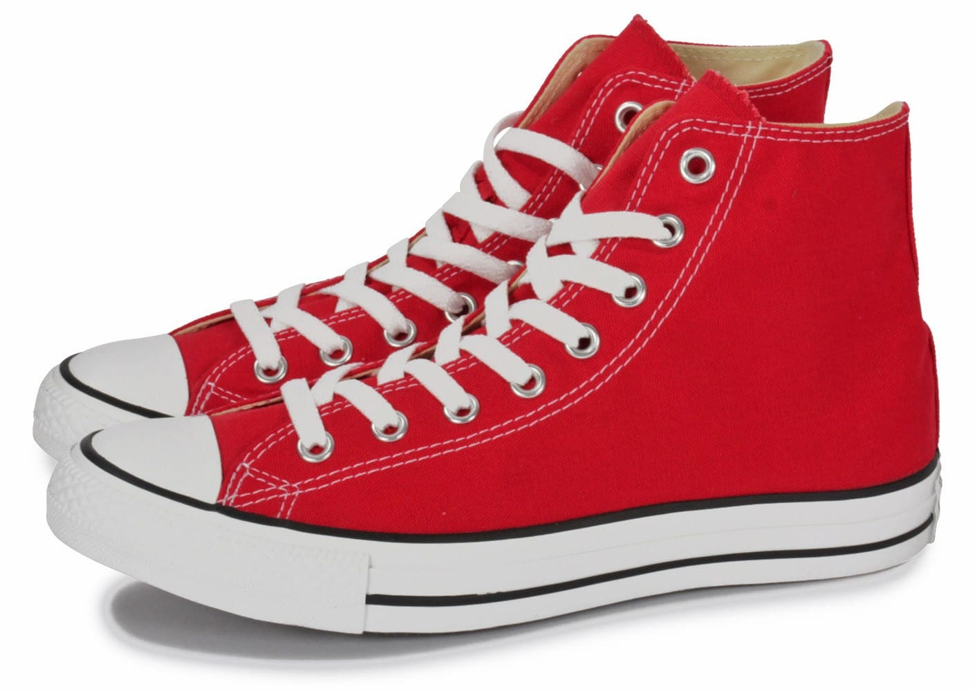Converse Chuck Taylor All-star Hi Rouge - Chaussures Baskets ...