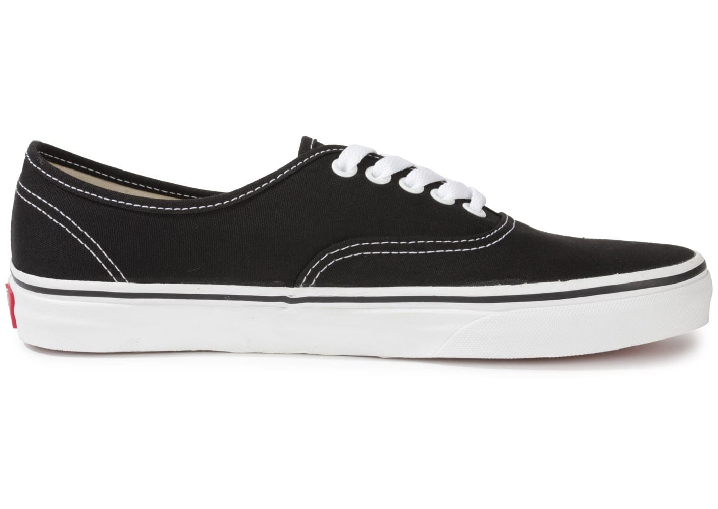 vans authentic noire et blanche chaussures baskets homme chausport. Black Bedroom Furniture Sets. Home Design Ideas
